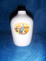 Hollóházi porcelán Balaton emlék váza 9 cm magas (14/d)