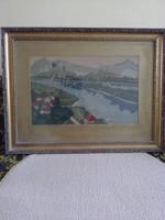 Gobelin kép eladó rámával együtt