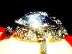 Szecessziós Óriás Kristály ötvos Gyűrű