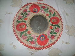 Retro falitükör filcre hímzett matyó keretben - 44 cm