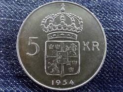 Svédország VI. Gusztáv Adolf (1950-1973) .400 ezüst 5 Korona 1954 TS / id 10662/