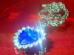 London kék kr. és Cirkónia díszítésű Titanic divat Nyaklánc