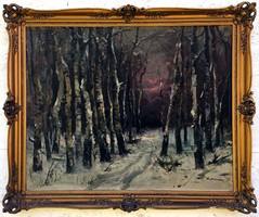 """Kasznár Ring Jenő (1875- ) """" Téli erdő.. """""""