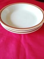 4 db mintás szélü Alföldi porcelán menzás, főzelékes tányér