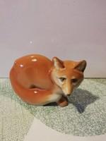 Extrém ritka, Zsolnay porcelán antik Art deco figura -- Róka