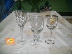 Gyűjtői talpas pohár - három darab