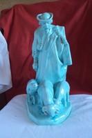 Zsolnay(Beszédes L.) Juhokat terelő juhász porcelán figura