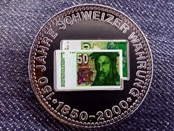 150 éves a svájci valuta emlékérem 50 Frank / id 10687/
