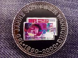 150 éves a svájci valuta emlékérem 20 Frank / id 10688/
