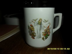 Antik Zsolnay ritka  Hófehérkés mese jelenetes békával!  bögre pohár