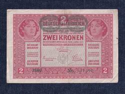Osztrák-Magyar Korona bankjegyek (háború alatt) 2 Korona bankjegy 1917 / id 10769/