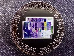 150 éves a svájci valuta emlékérem 1000 Frank / id 10686/