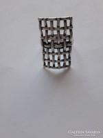 Ezüst gyűrű, ötvös mester alkotása