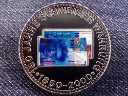 150 éves a svájci valuta emlékérem 100 Frank / id 10685/