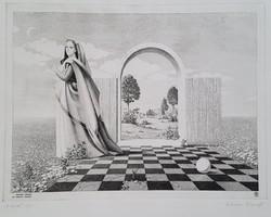 Artner Margit - Hold 28 x 37 cm rézkarc