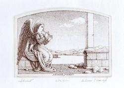 Artner Margit - Ádvent 8.5 x 11.5 cm rézkarc