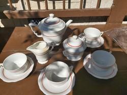 Zsolnay antik kávés készlet 1920 környéke.