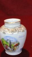 Plankenhammer német porcelán, Floss Bavaria váza. Eredeti aranyozással.