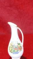 LUTZ osztrák porcelán kis váza. MATTSEE Salzburg felirattal és látképpel.