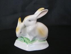Hollóházi porcelán nyuszi pár