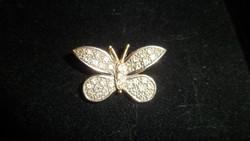 Cirkonköves arany pillangó medál