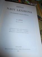 Révai Nagy lexikon  IV kötet -1912 év hasonmás kiadása