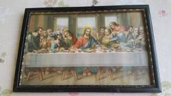 Szentkép eladó!Az utolsó vacsora fali kép eladó!