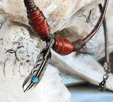 American Navajo indián tollas nyaklánc
