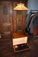 Wilhelm Krechlok Midcentury modern állólámpa kis bár szekrénnyel