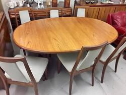 G Plan, Retro étkező asztal 6 székkel