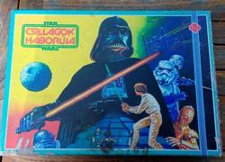 Novoplast- Star Wars -Csillagok háborúja - társasjáték tábla  figurákkal, eredeti dobozában 1986.