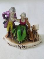 Hummel barokk jelenetes porcelán