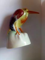 """Drasche  """"gubbasztó bakó"""" porcelán madár"""