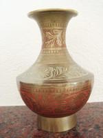 Régi réz kis váza 15 cm