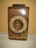 Zsolnay ,  Fürtös féle  ,  padló váza   jelzett , 45  cm  magas