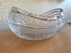 Dúsan mintázott kristály asztalközép, kináló