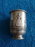 Antik Ezüst pohár,Hófehérke és a hét törpe!Ritka!