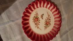 Antik pillangós tányér