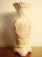 Régi váza vintage gyöngyházfényű kerámia váza 26 cm