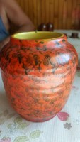 Tófej retro  kerámia váza.