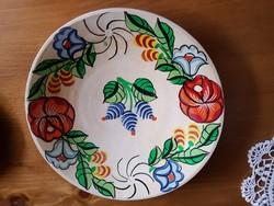 Kalocsai mintás festett tányér falra