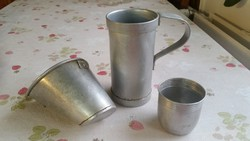 Alumínium 2 dl-es tejmérő , alumínium pohár, alumínium tejszűrő eladó!