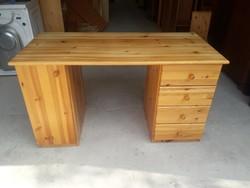 Eladó egy 4fiókos,1 ajtós fenyő íróasztal.