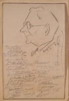 Sporttörténeti ritkaság, aláírás-gyűjtemény,  Klebelsberg vízilabdatorna 6 ország sportolóival