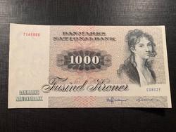 *** UNC(!) 1972-es (1980) 1000 Dán korona RITKA!!!  ***