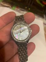 Gyönyörű, valódi 925 ezüst óra gyöngyház számlappal, kiválóan működik