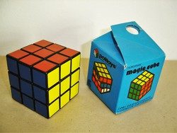 Korai, gyűjtői, német exportra gyártott Politoys / Konsumex Rubik kocka 1980-as évek