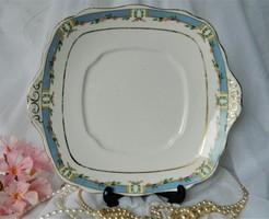 Közel 100 éves Royal Albert tál, kínáló fehér, kék