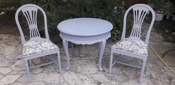 Provence neobarokk asztal két székkel