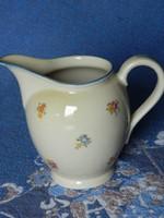 Régi, apró virágos porcelán tej és tejszínes kiöntő